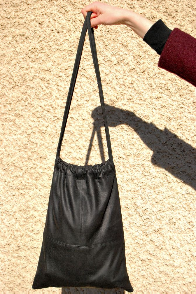 Best 25  Leather drawstring bags ideas on Pinterest