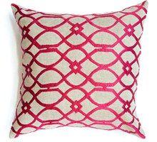 Geometric Curves Pink Cushion Boyd Blue