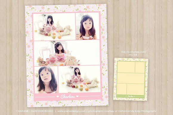16x20 Photo Collage Template by Popuri Design on @creativemarket