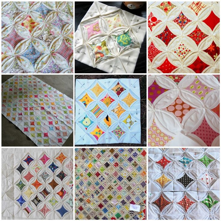 a whole bunch of cathedral window quilt tutorials #sewing #diy Cathedral Windows Pinterest ...