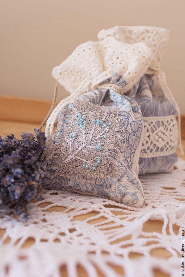 Купить Лавандовое саше 3 - комбинированный, лаванда, лавандовое саше, саше, саше с лавандой