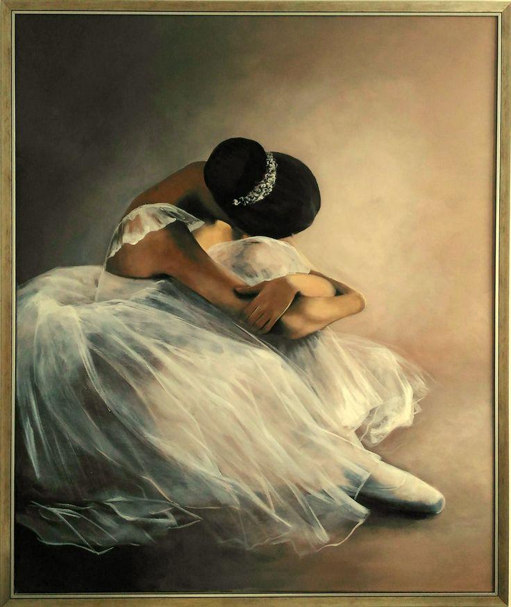 Ballerina painting Agata Mikulska-Sienkiewicz,acryl on canvas, 120x100 cm,