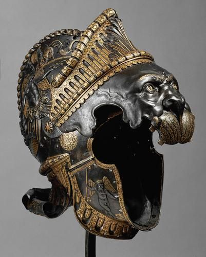 Balaclava in the form of a Nemean lion from a all'antica ensemble with Buckler (A 693A) | Filippo Negroli | dated 1541