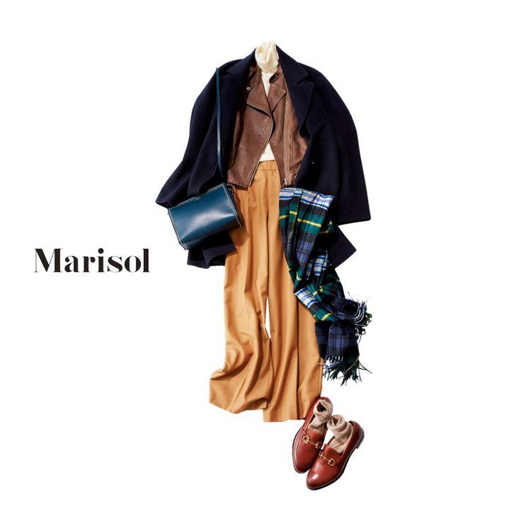 寒暖差対策には、オフィスで脱ぎ着しやすい重ね着コーデが一番!【2018/1/30コーデ】Marisol ONLINE|女っぷり上々!40代をもっとキレイに。