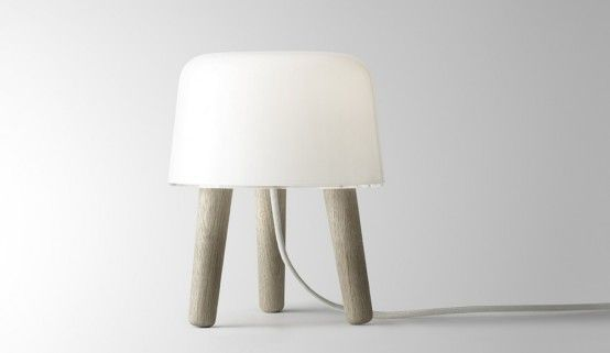Milk Lamp. By NORMTable Lamps, Milk Tables, Norm Architects, Milk Bordlamp, Milk Lamps, Milk Tablelight, Tables Lamps, Milk Na1, Design