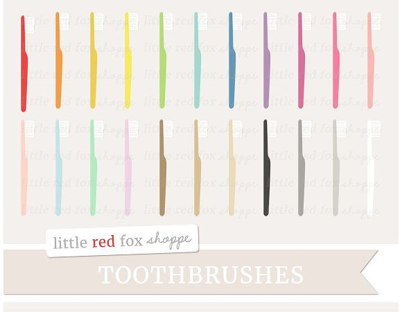 Toothbrush Clipart Graphics **TOOTHBRUSHES** ¨C This set includes freebies! :DDigital clip art is perfect for scrapbooking, sti by Little Red Fox Shoppe