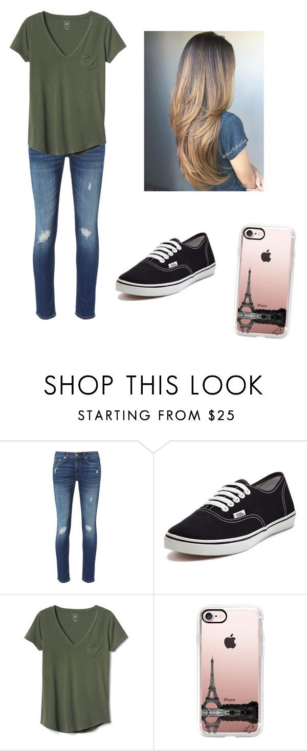 """How to wear vans"" by dancer0202 ❤ liked on Polyvore featuring rag & bone, Vans, Gap and Casetify"