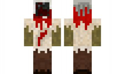 how to build a zombie head in minecraft