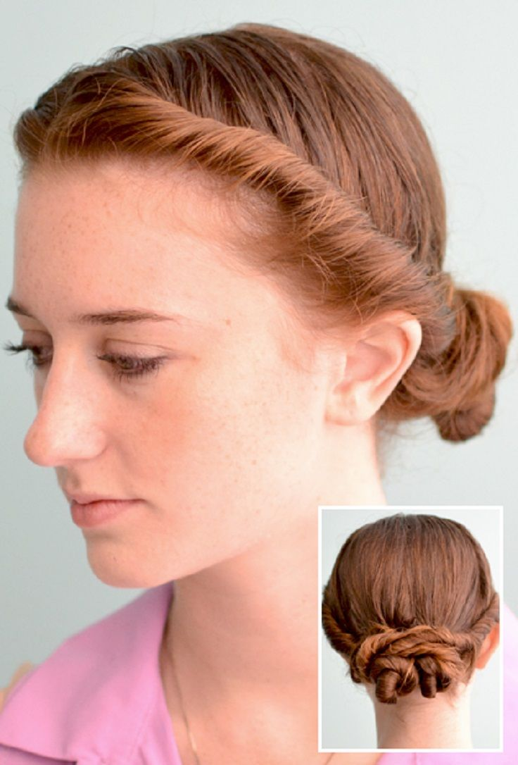 Fast Hairstyles For Wet Hair --- Double Twist