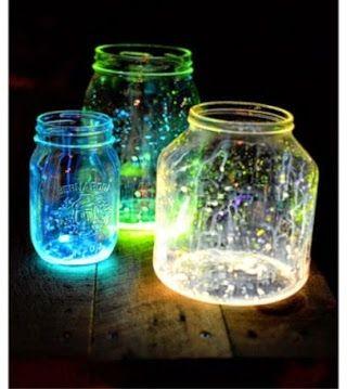 Efeito Neon em potes de conserva