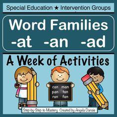 Phonemisches Bewusstsein und Wortfamilienaktivitäten. Enthält die Forschung von Dav … – Special ed