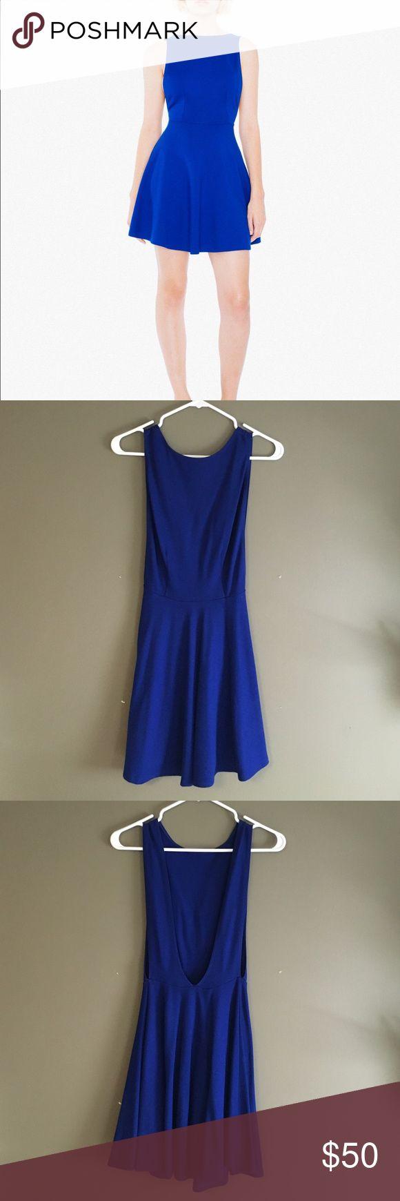 American apparel Ponte Sleeveless Skater Dress Only worn once, blue American apparel Ponte Sleeveless Skater Dress. Great condition American Apparel Dresses