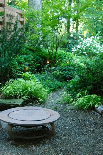 a shade path to prevent flooding provide privacy julie witmer garden design the look for the north woodland garden and firepit - Garden Design Kendal
