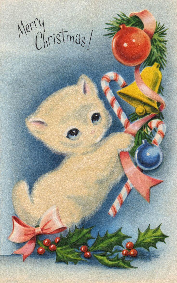 608 best vintage christmas 4 images on pinterest vintage christmas card images christmas cats vintage christmas cards holiday cards retro christmas christmas wishes christmas things winter christmas kristyandbryce Gallery