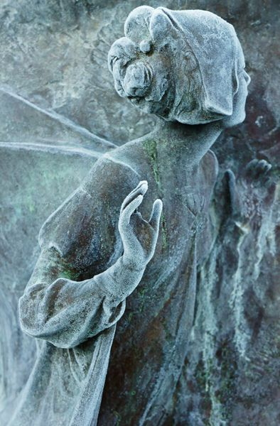 The ice crystals from Jack Frost really helped enhance the details of this statuette found in Bowring Park, St.John's, Newfoundland. ~ Photo by Curtis St Johns on Flickr.