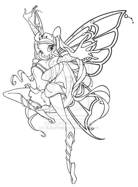 Kleurplaten Winx Enchantix.Winx Club Bloom Bloomix Coloring Pages Art Coloring Pages Fairy