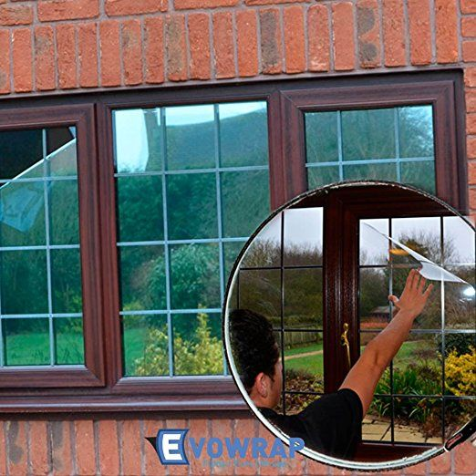 Silver Reflective Window Film (Solar Control & Privacy Tint - One Way Mirror / Mirrored Glass) (100cm x 2 metres)