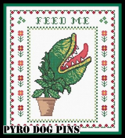 Feed Me Cross Stitch Pattern PDF - Little Shop of Horrors Modern Cross Stitch…