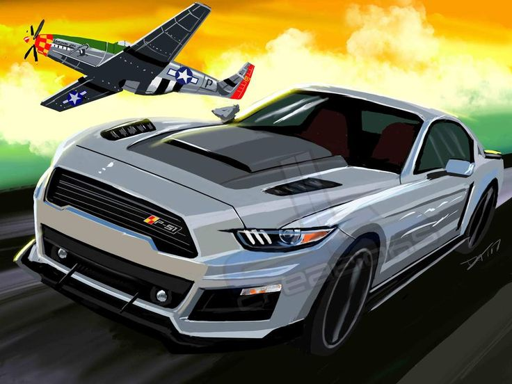 2016 P-51 Mustang – dtcreations automotive art