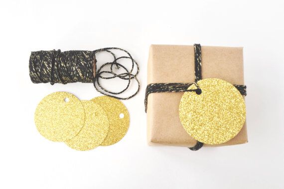 Glitter Tags and Twine Set