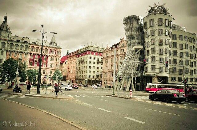 Dancing building, Prague, Czech Republic.