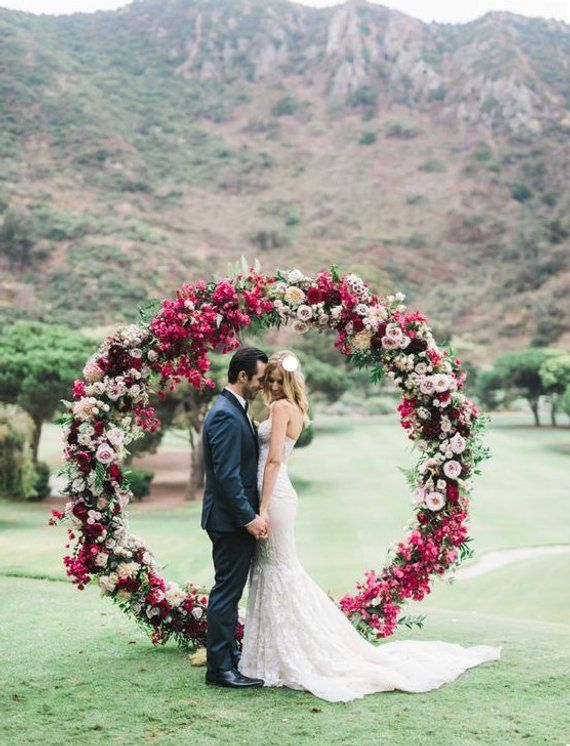 Сircle Wedding Arch 6.9ft Metal arch Ceremony arch Wedding decor Wedding backdrop Wedding decorations Arch decor