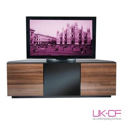 UK-CF Milan Walnut Gloss Corner TV Stand 150cm