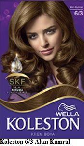 Koleston 2017 Saç Renk Kartelası - Koleston altın kumral saç boyası