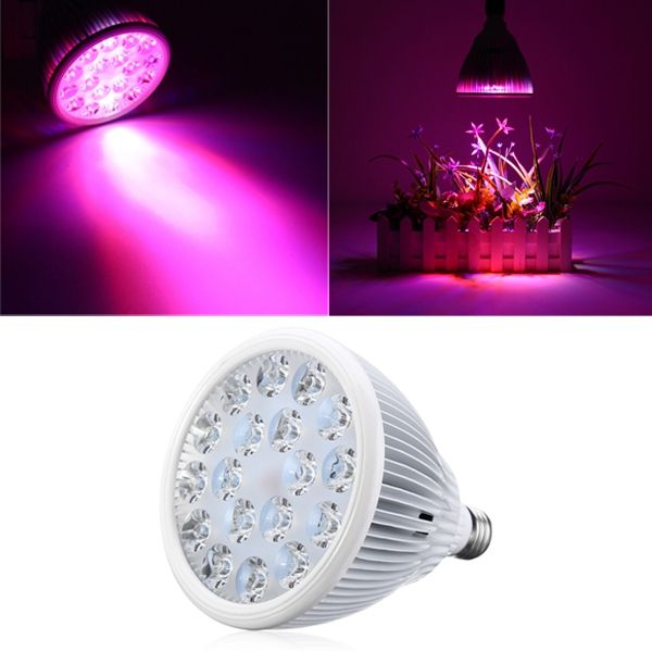54W E27 LED Full Spectrum Grow Light Lamp Blub for Indoor Hydroponic Plant Flower