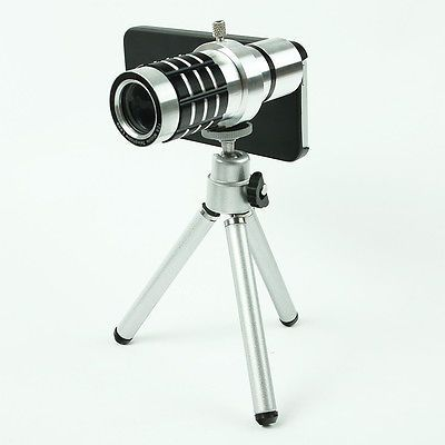 12X Zoom Camera Telephoto Telescope Lens + Mount Tripod For Iphone 5 Cell Phone - http://phones.goshoppins.com/phone-accessories/12x-zoom-camera-telephoto-telescope-lens-mount-tripod-for-iphone-5-cell-phone/