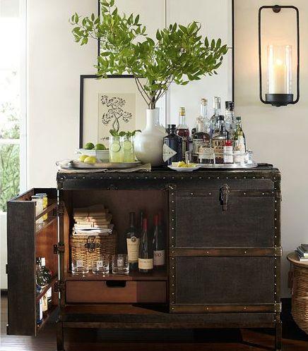 Pottery Barn Bar Cabinet