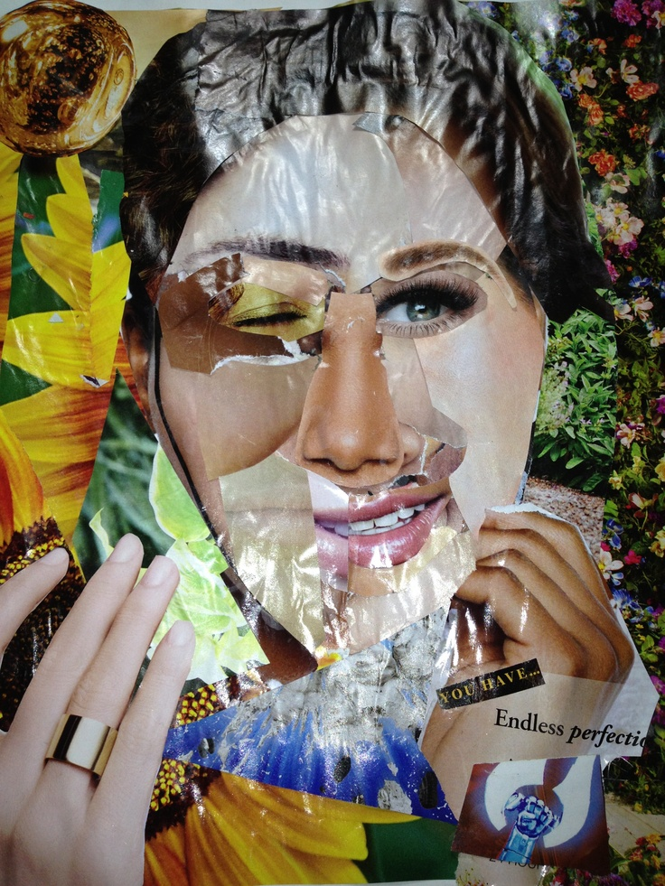 Identity collage made with women's magazines