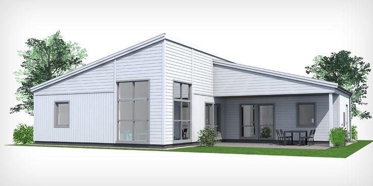 Villa Modern A7, 1-planshus med vinkel på 124 m² — C4 Hus
