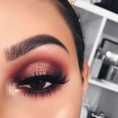 Metallic Burgundy Eyeshadow