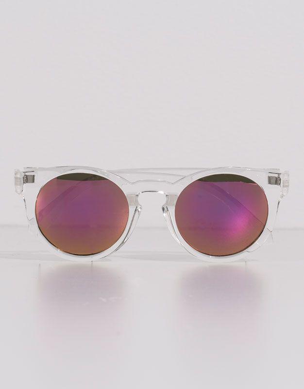 Pull&Bear - mulher - óculos de sol - óculos massa transparente espelhados - 0-990 - 05898302-V2016