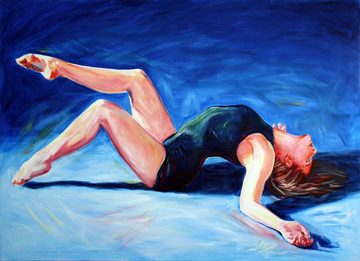 Latest Oil Painting, Dancer Rising. 1.2m by 1m. Sold