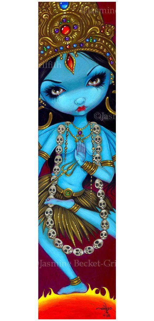 Kali hindu india goddess fairy art print by Jasmine by strangeling, $29.99