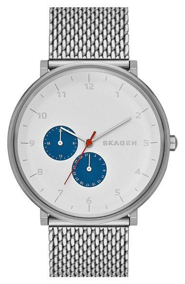 Skagen+'Hald'+Multifunction+Mesh+Strap+Watch,+40mm+available+at+#Nordstrom
