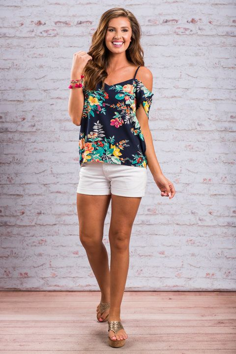 Dance With Me Tank, Navy - The Mint Julep Boutique - so cute for summer!
