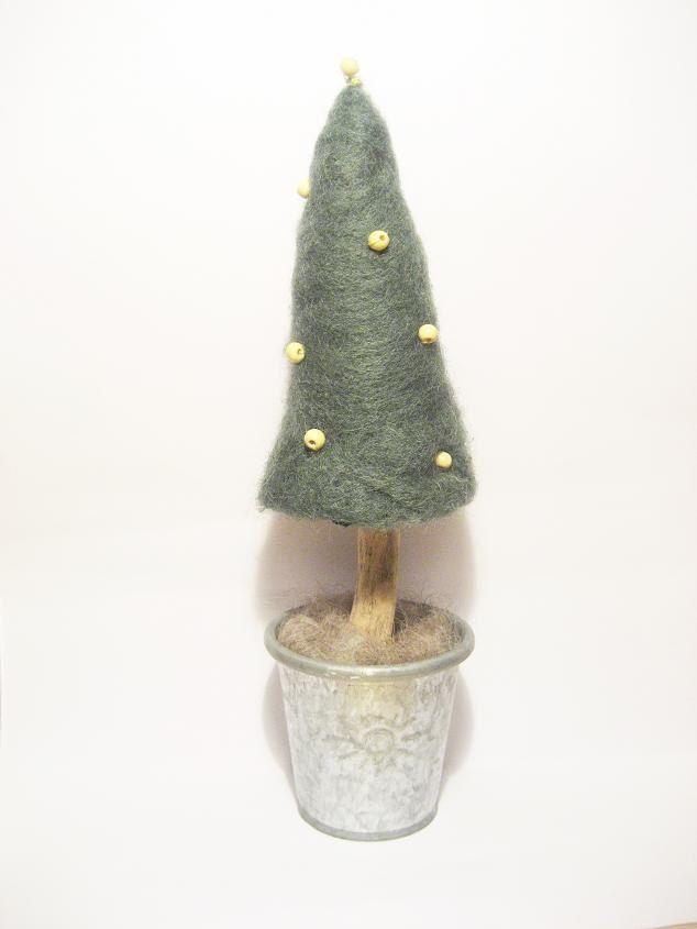 Needle felted Christmas tree decoration, eco friendly home decoration from needle felted wool. $25.00, via Etsy.