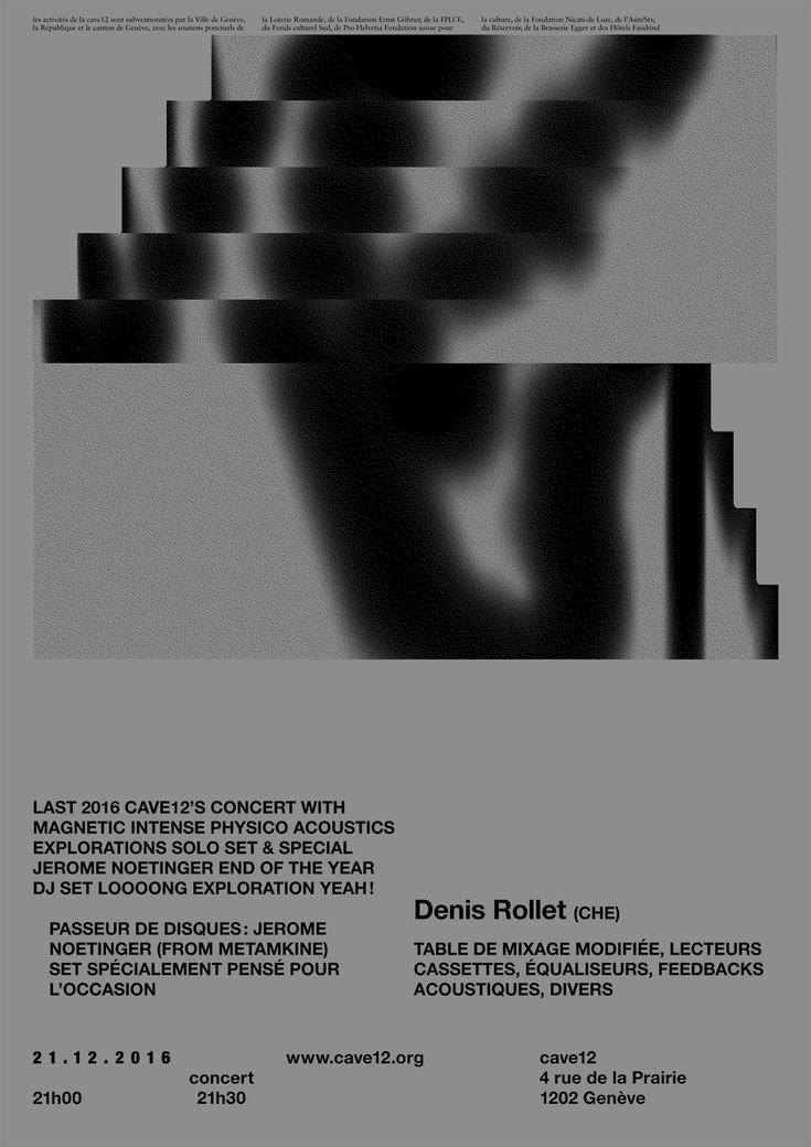 Denis Rollet at cave12, Genève, December 21, 2016. Design: Xavier Robel