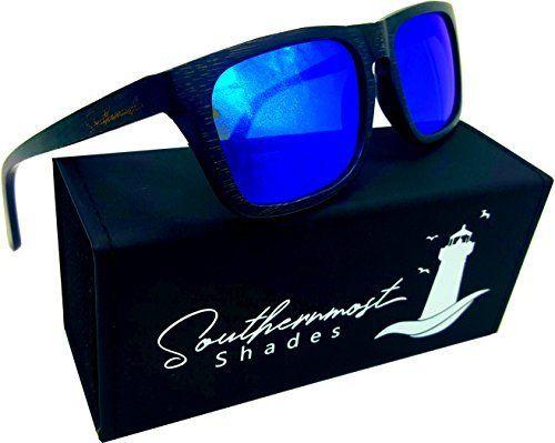 48beec6b51 Real Bamboo Wood Sunglasses - Handmade Wooden Shades - 100% Polarized  Lenses (Black Bamboo