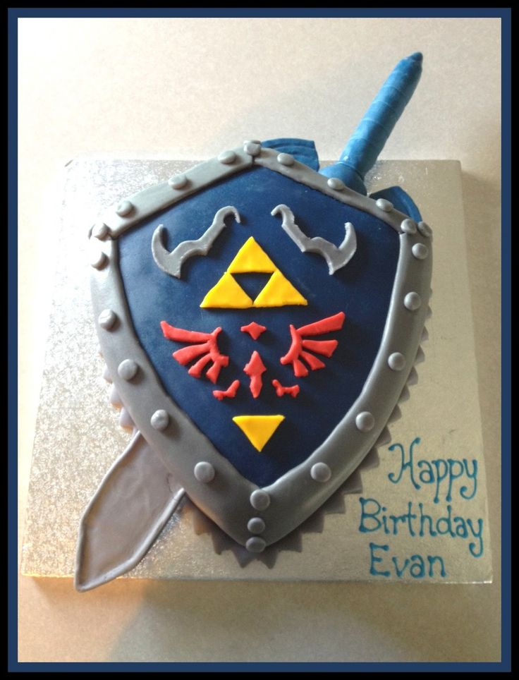 ... into the world of video games for this Zelda themed birthday cake
