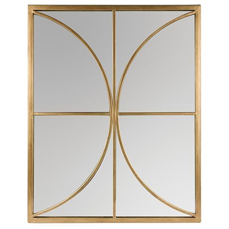 Oro Mirror 50x63cm Crescent Gold Colour Above bedside table on each side in queen room