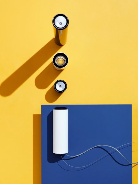 photo ... FLOS  ... blue, yellow, white ... luv the graphic look ...