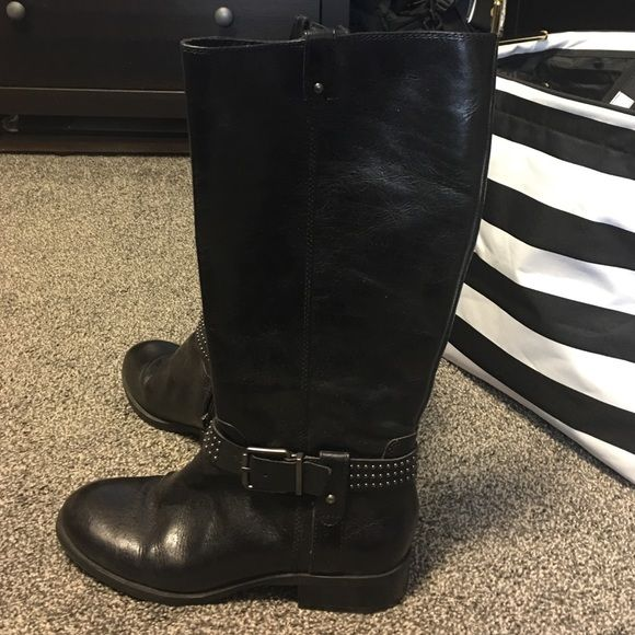 Jessica Simpson boots Black leather Jessica Simpson boots! Great condition! Jessica Simpson Shoes Combat & Moto Boots