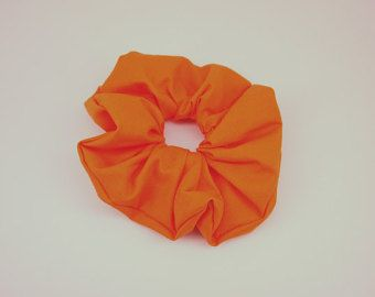 Halloween Scrunchie arancione, grande mandarino Scrunchie, cravatta capelli arancioni, grandi Scrunchie, regalo, capelli, partiti favori, coda di cavallo, squadra nastri, per bambini
