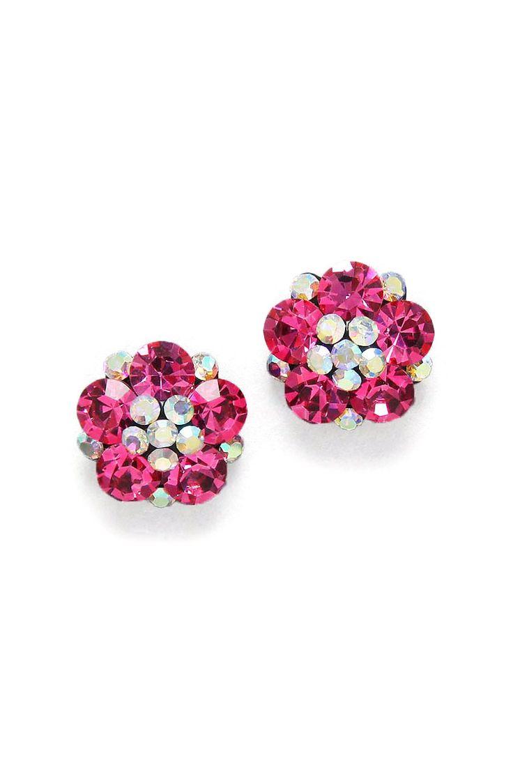 Crystal Savannah Earrings in Pomegranate