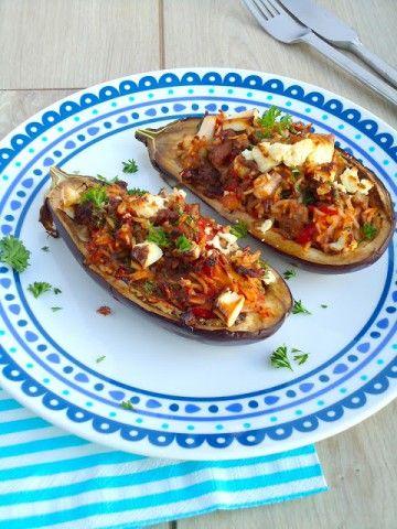 Gevulde aubergines - Uit Paulines Keuken