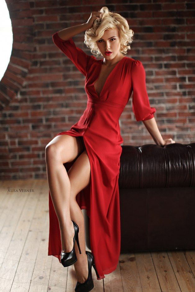 Something is. Sexy blonde red dress you advise
